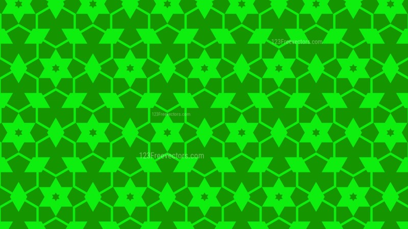 Neon Green Star Pattern Background Image