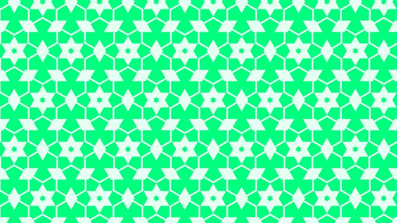 Spring Green Seamless Star Pattern Vector Image