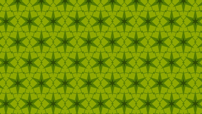 Green Stars Pattern Background Vector Art