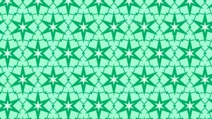 Mint Green Seamless Stars Pattern Illustration