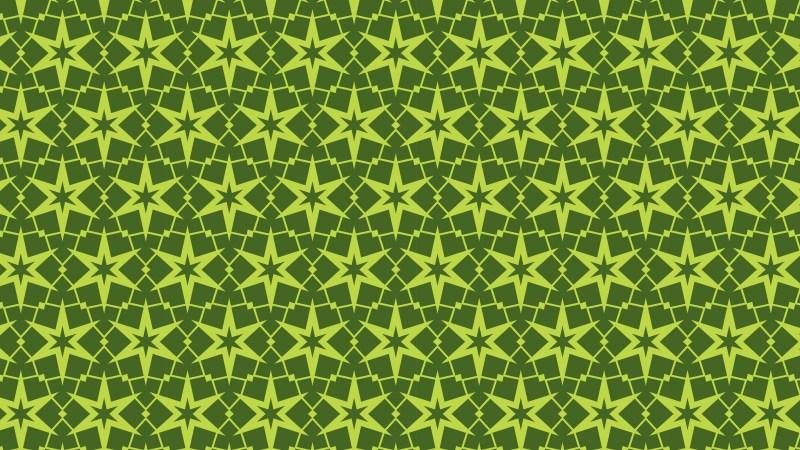 Moss Green Star Pattern
