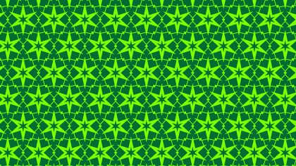 Neon Green Star Background Pattern