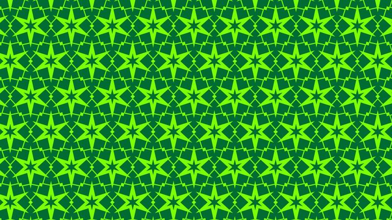 Neon Green Star Background Pattern