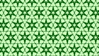 Green Seamless Star Background Pattern