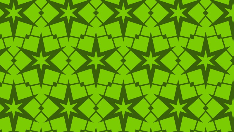 Green Stars Pattern Background