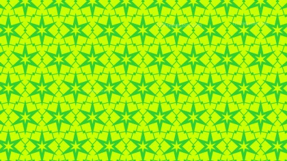 Lime Green Seamless Stars Pattern