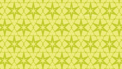 Green Star Pattern Background Vector Illustration