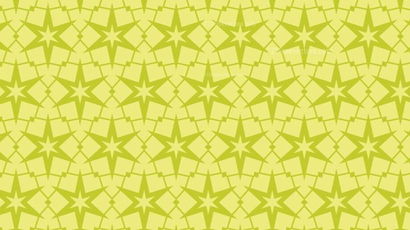 Green Star Pattern Background Vector Illustration