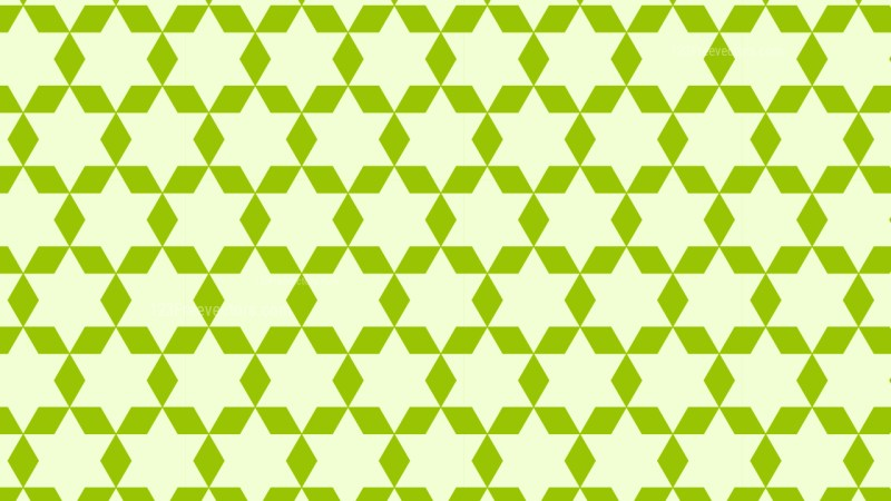 Green Seamless Star Background Pattern Illustration