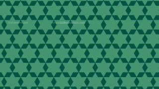 Dark Green Seamless Stars Pattern Vector Image