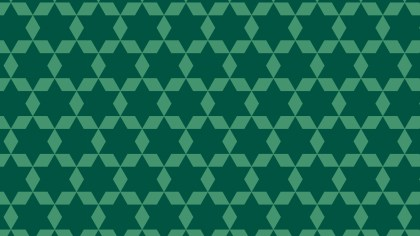 Dark Green Seamless Stars Pattern Background Illustrator