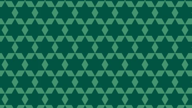 Dark Green Seamless Stars Pattern Background Illustrator