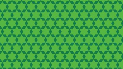 Green Seamless Stars Background Pattern Vector Illustration