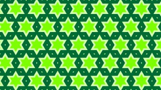Green Seamless Star Pattern