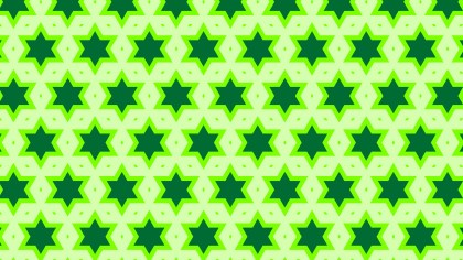 Green Seamless Star Pattern Background