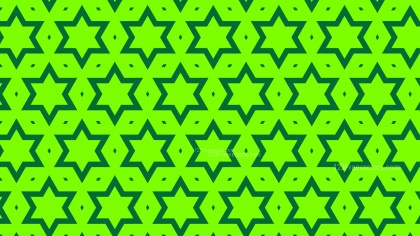 Neon Green Seamless Stars Pattern