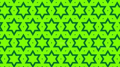 Neon Green Seamless Stars Pattern