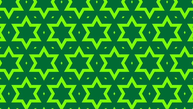 Green Seamless Stars Pattern Background