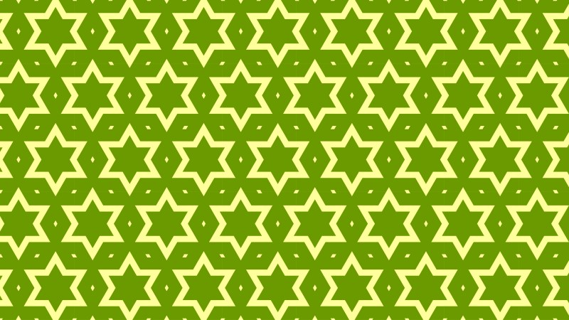 Green Star Pattern Graphic