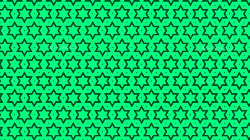 Emerald Green Star Pattern Background Illustration