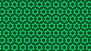 Dark Green Star Background Pattern Design