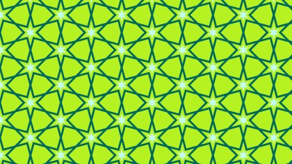 Lime Green Stars Pattern Illustrator