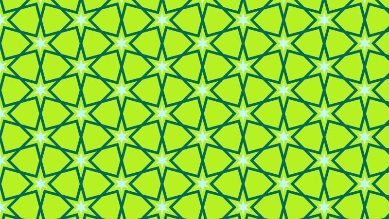 Lime Green Stars Pattern Illustrator