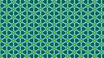 Green Seamless Stars Pattern Vector Art