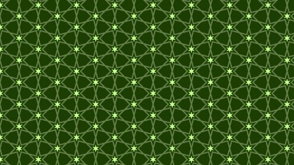 Dark Green Seamless Stars Pattern Background Graphic