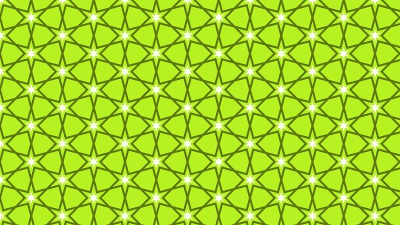Lime Green Seamless Star Pattern