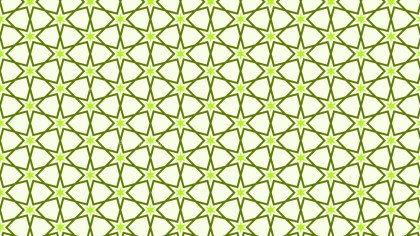Light Green Seamless Star Background Pattern