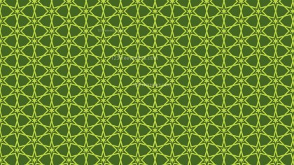Moss Green Seamless Stars Pattern