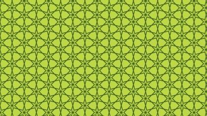Green Seamless Stars Pattern Background
