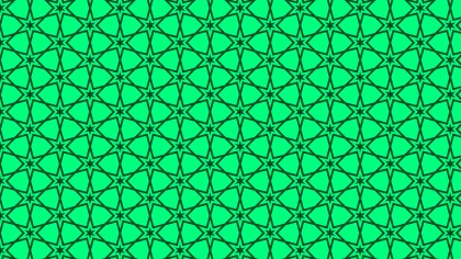Emerald Green Star Pattern Vector Graphic
