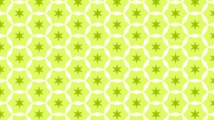Lime Green Stars Pattern Graphic