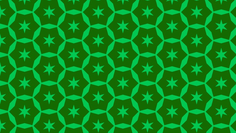 Green Seamless Stars Pattern Background Vector Graphic