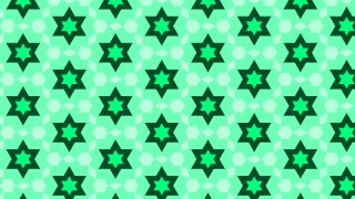 Spring Green Seamless Star Background Pattern