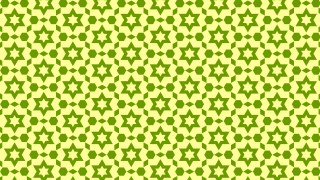 Green Stars Pattern Background