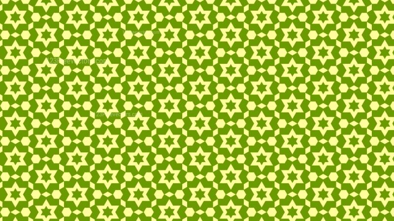 Green Stars Background Pattern