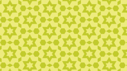 Green Seamless Stars Pattern