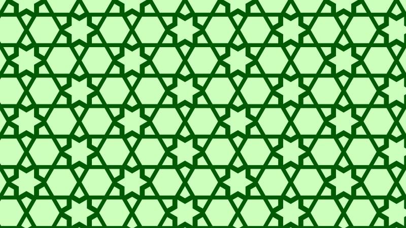 Green Star Background Pattern Graphic