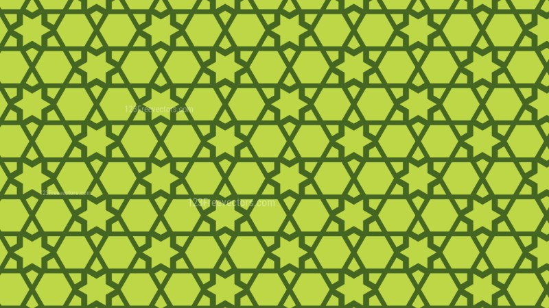 Green Seamless Star Pattern Background Design