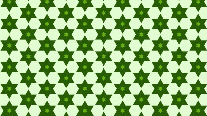 Green Seamless Star Background Pattern Image