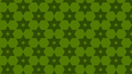 Dark Green Stars Pattern Vector Graphic