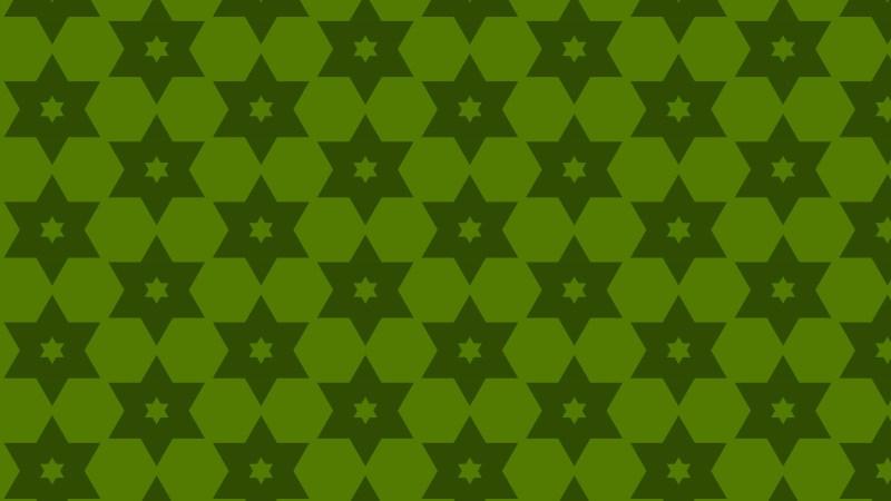Dark Green Stars Pattern Vector Graphic