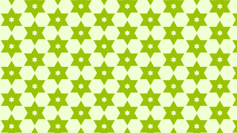 Green Stars Pattern Background Vector Image