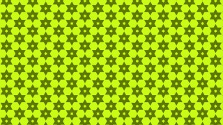 Lime Green Seamless Stars Pattern Vector Illustration