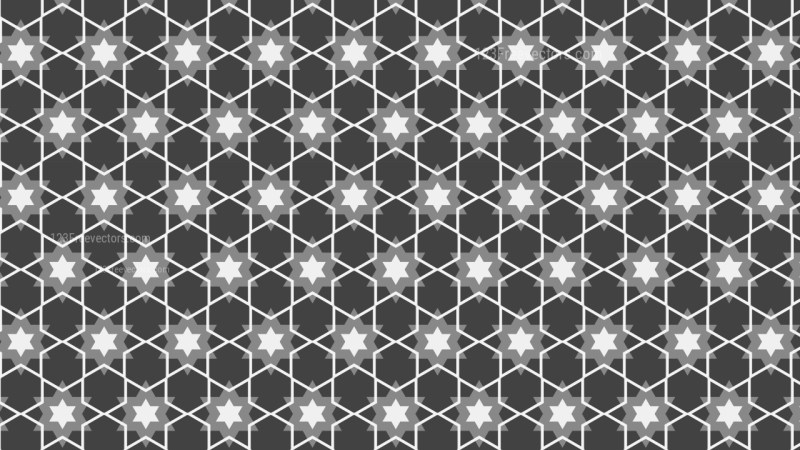 Dark Grey Seamless Stars Pattern Background Vector