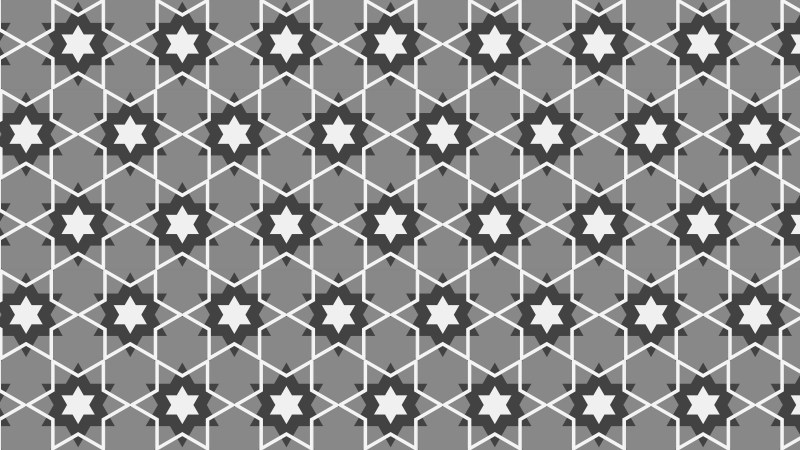 Grey Seamless Stars Background Pattern Vector Art