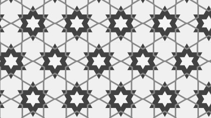 Grey Star Pattern Background